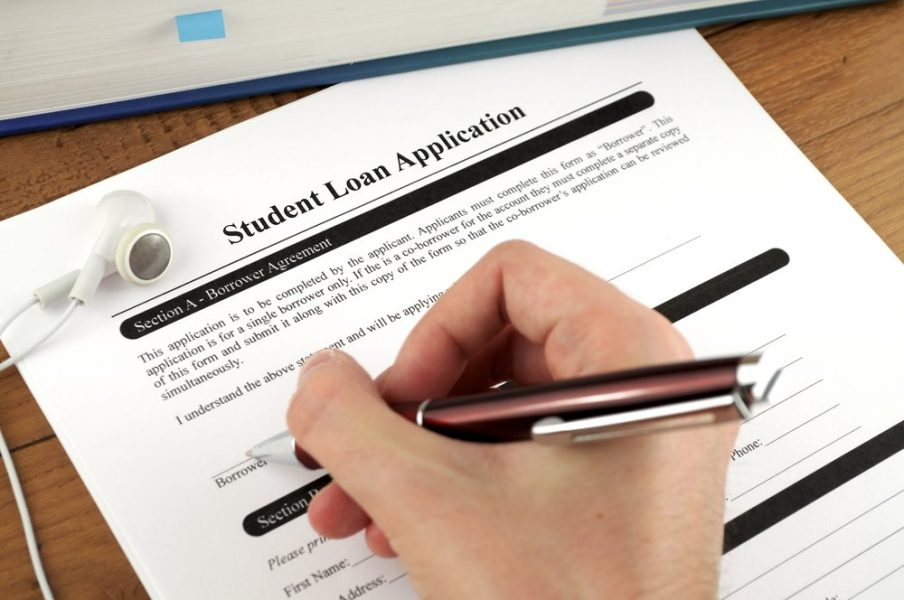 Sfilling and signing in student loan