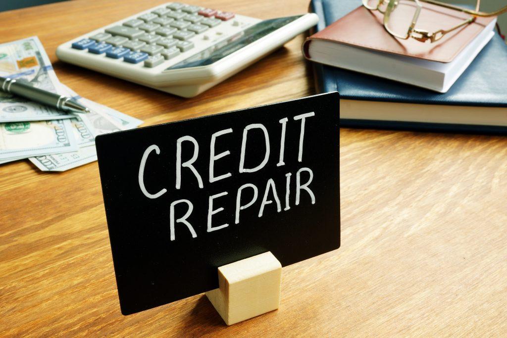 cheap credit repair sign
