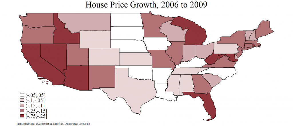 House Price Growth 2006 to 2009